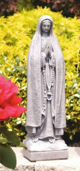 Our Lady of Fatima Statue 18.25 Inches - Old Stone Finish