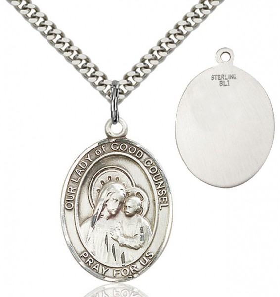 Our Lady of Good Counsel Medal - Sterling Silver