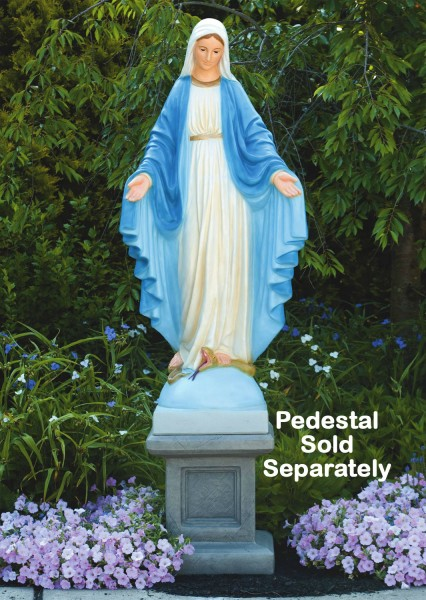 Our Lady of Grace Church Size Statue 64.75 Inches - Detailed Color Finish
