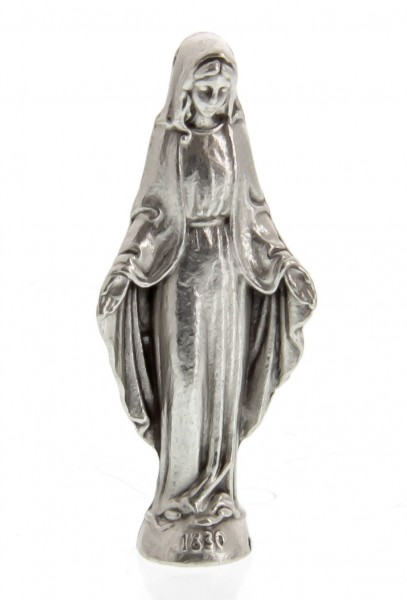 Our Lady of Grace Pocket Statue with Holy Card - Multi-Color