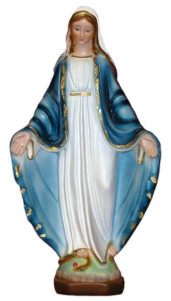 Our Lady of Grace Statue - 13 Inches - Multi-Color