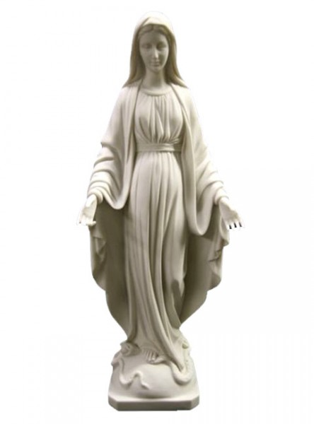 Our Lady of Grace Statue White - 19 inch - White