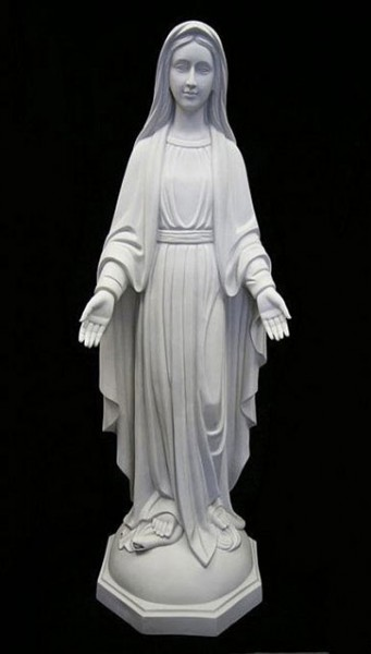 Our Lady of Grace Statue White Marble Composite - 60 inch - White