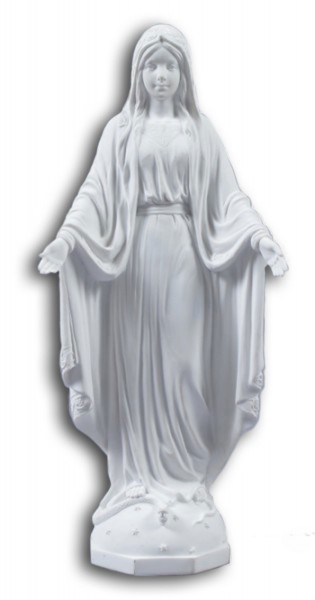 Our Lady of Grace White Statue - 10 Inches - White