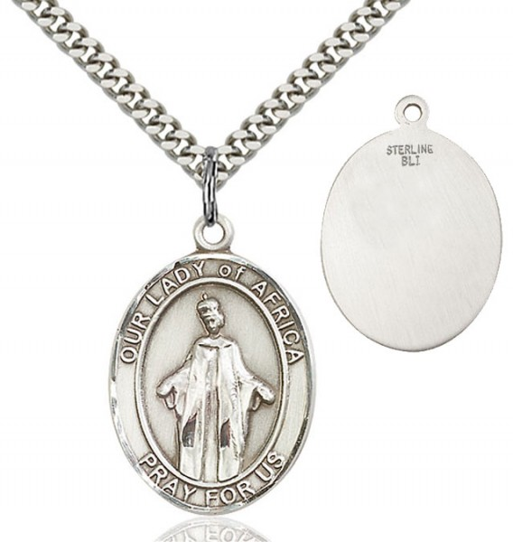 Our Lady of Grace of Africa Medal - Sterling Silver