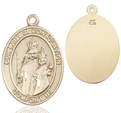 Our Lady of Grace of Consolation Medal - 14K Yellow Gold