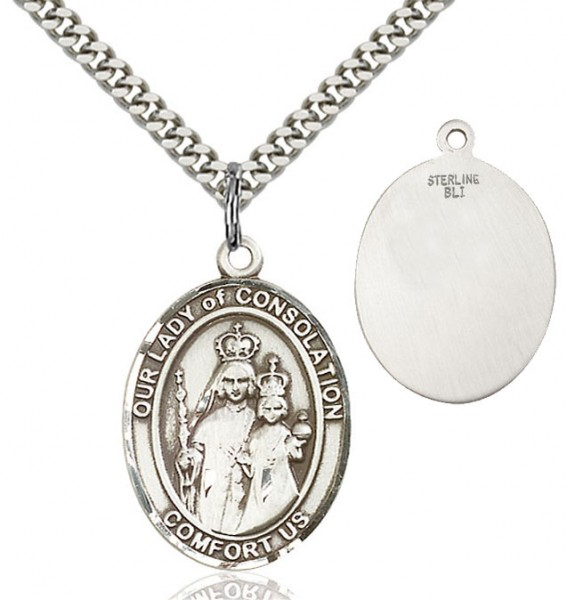 Our Lady of Grace of Consolation Medal - Sterling Silver