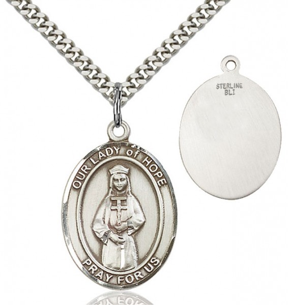 Our Lady of Grace of Hope Patron Saint Medal - Sterling Silver