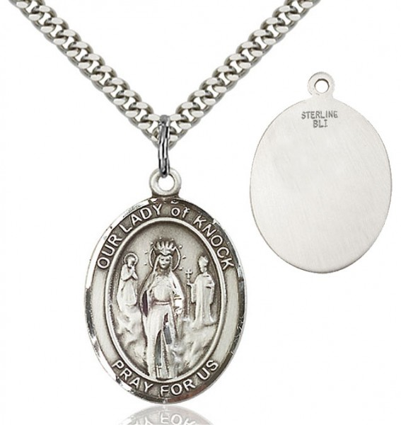 Our Lady of Grace of Knock Patron Saint Medal - Sterling Silver