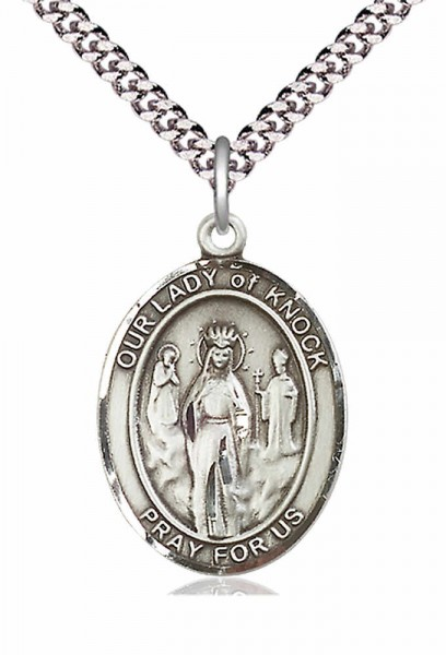 Our Lady of Grace of Knock Patron Saint Medal - Pewter