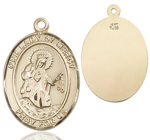 Our Lady of Grace of Mercy Medal - 14K Solid Gold