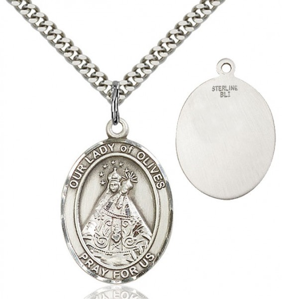 Our Lady of Grace of Olives Medal - Sterling Silver
