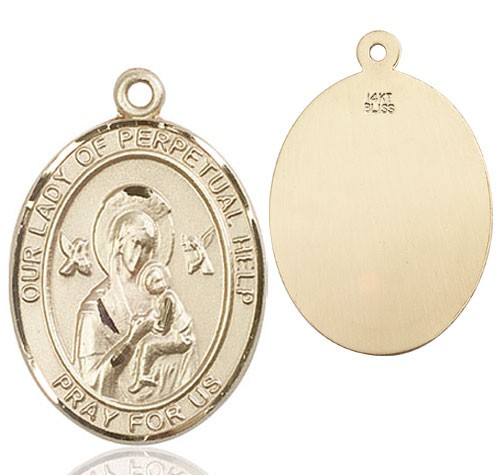 Our Lady of Perpetual Help Medal - 14K Solid Gold