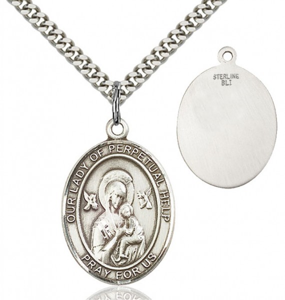 Our Lady of Perpetual Help Medal - Sterling Silver