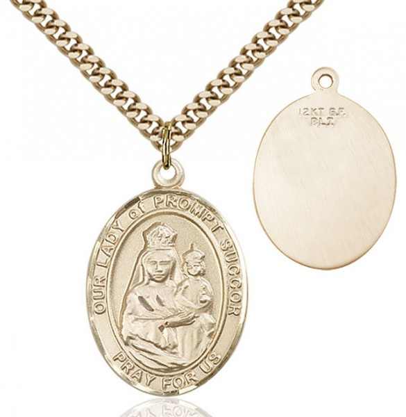 Our Lady of Grace of Prompt Succor Medal - 14KT Gold Filled