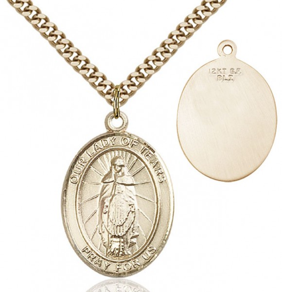 Our Lady of Tears Medal - 14KT Gold Filled