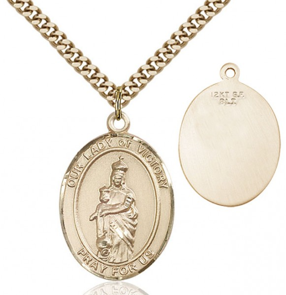 Our Lady of Grace of Victory Medal - 14KT Gold Filled