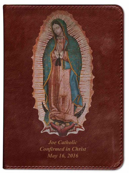 Our Lady of Guadalupe Catholic Bible - Burgundy