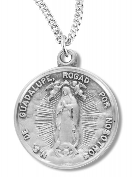 Our Lady of Guadalupe Medal Sterling Silver - Silver