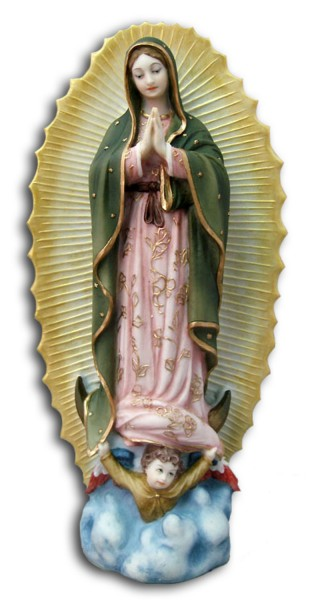 Our Lady of Guadalupe Statue - 9.5 Inches - Multi-Color