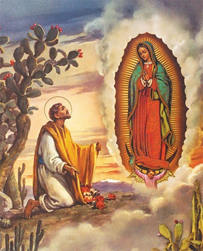 Our Lady of Guadalupe with Juan Diego Print - Sold in 3 per pack - Multi-Color