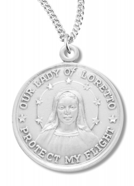 Our Lady of Loretto Medal Sterling Silver - Silver