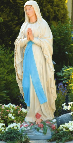 Our Lady of Lourdes Church Size Statue 59.5 Inches - Detailed Color Finish