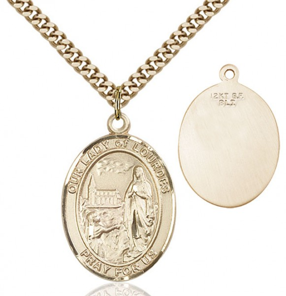 Our Lady of Lourdes Medal - 14KT Gold Filled