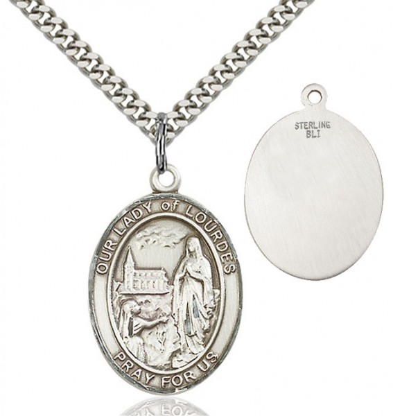 Our Lady of Lourdes Medal - Sterling Silver