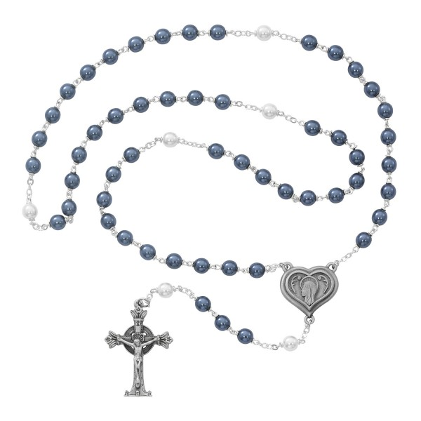 Our Lady of Lourdes Rosary with Water from Shrine - Blue