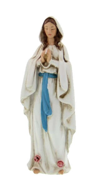 "Our Lady of Lourdes Statue 4"" - White"