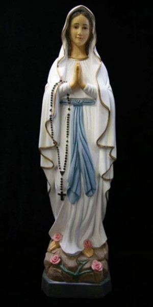 Our Lady Of Lourdes Statue Marble Composite 27 75 Inch