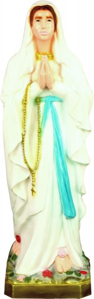 Plastic Our Lady of Lourdes Statue - 24 inch - Full Color