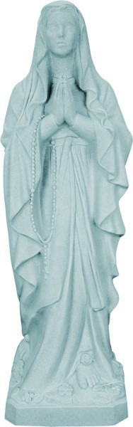 Plastic Our Lady of Lourdes Statue - 24 inch - Granite