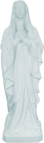 Plastic Our Lady of Lourdes Statue - 24 inch - White