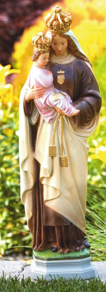 Our Lady of Mount Carmel Statue 27 Inches - Detailed Color Finish