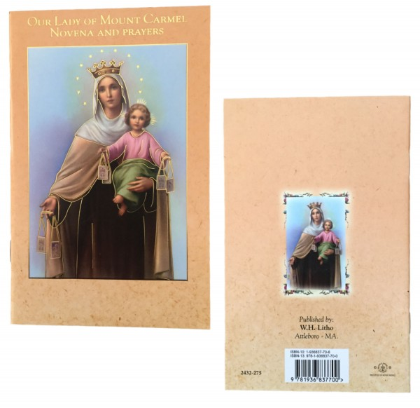 Our Lady of Mt. Carmel Novena Prayer Pamphlet - Pack of 10 - Gold Tone