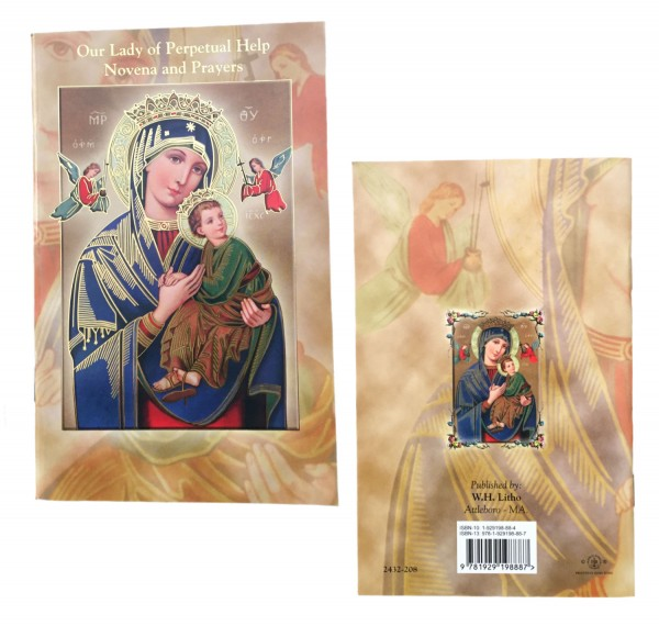 Our Lady of Perpetual Help Novena Prayer Pamphlet - Pack of 10 - Gold Tone