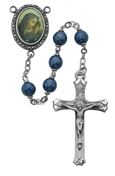 Our Lady of Sorrows Rosary - Blue