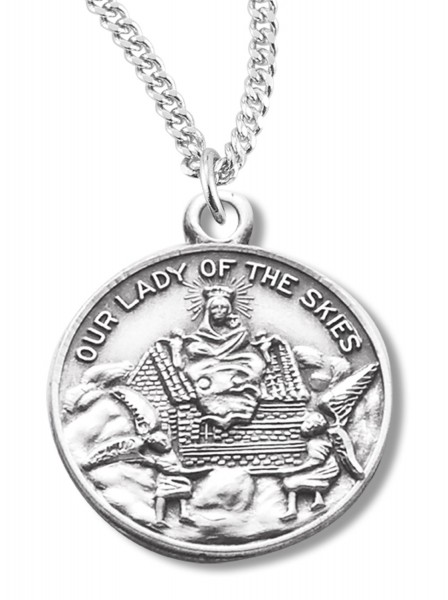 Our Lady of the Skies Medal Sterling Silver - Silver