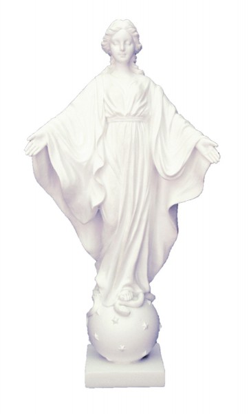 Our Lady of the Smiles White Statue - 9 Inches - White