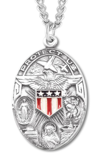 Patriotic Medal Sterling Silver - Silver