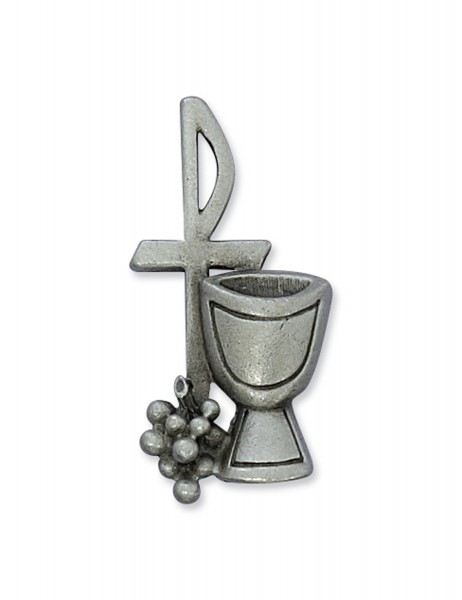 Pewter Chalice Lapel Pin - Silver tone
