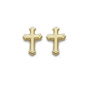 Beveled Cross Shaped Earrings - Gold
