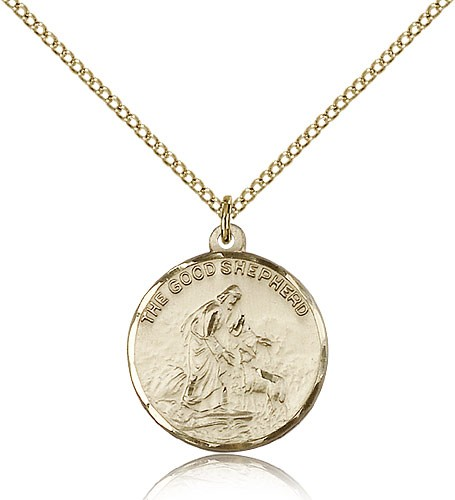 Good Shepherd Medal - 14KT Gold Filled