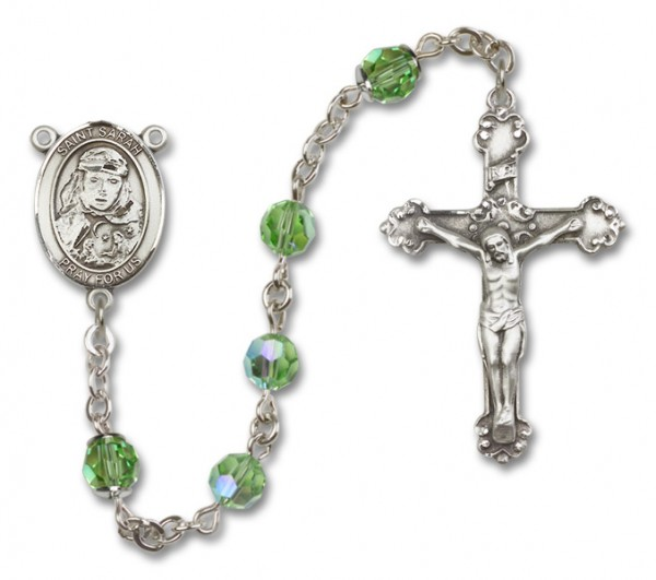 St. Sarah Rosary Heirloom Fancy Crucifix - Peridot