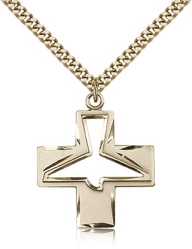Holy Spirit Medal - 14KT Gold Filled