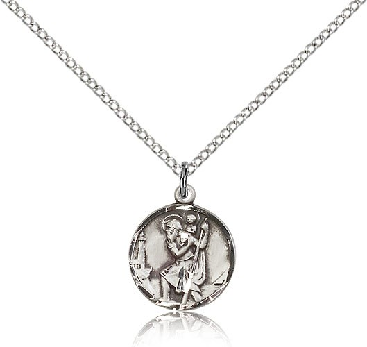 Women's Petite Lighthouse St. Christopher Necklace - Sterling Silver