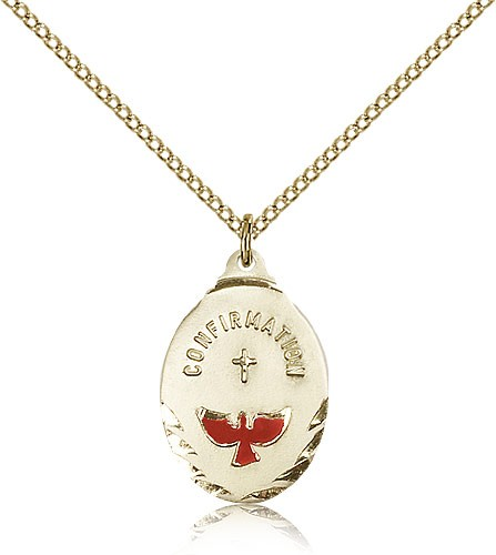 Confirmation Dove Medal - 14KT Gold Filled