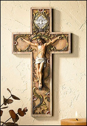 Holy Spirit Wall Crucifix - 2 per order - Multi-Color